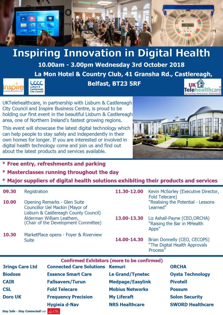 Flyer for Belfast Event